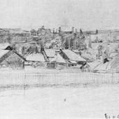 Село Воскресенское 1942 г 43х30
