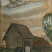 Вечер. Белая лошадь. 1931