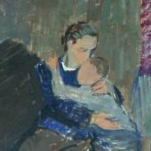 Эскиз к картине «Поцелуй», 1943