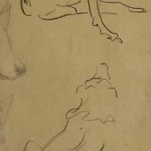 Наброски собак (чешутся), 1937(?)
