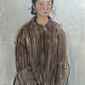 Портрет девочки в коричневом платье 1959 (?)