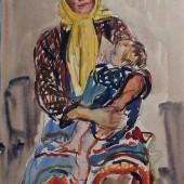 Мать с ребенком (Марийская деревня), 1958