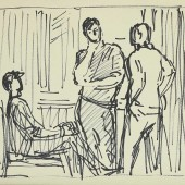 """Рисунок к картине """"Студенты"""" 1969 -1970"""
