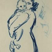 Ребенок на руках у матери, 1960