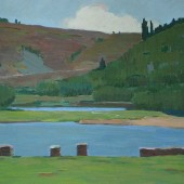 Уральский пейзаж (река Сим), 1968