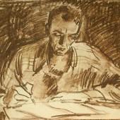 За работой (сын Вадим), 1960