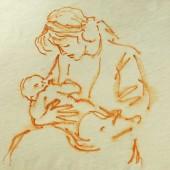 Мать с ребенком на руках