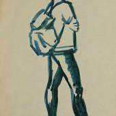 """Рисунок к картине Студенты"""", 1960-е"""