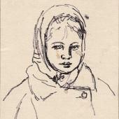 Портрет деревенской девочки, 1960-е
