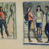 "Рисунки к картине Студенты"", 1960-е"