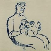 С ребенком на руках, 1960