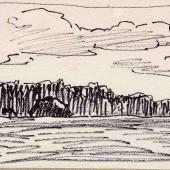 Пейзаж со стогом, 1960-е