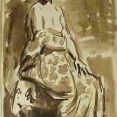 Обнаженная с цветным халатом, 1960-е