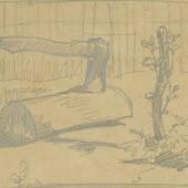Уголок двора (колун), 1940