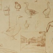 Наброски гусей, 1940