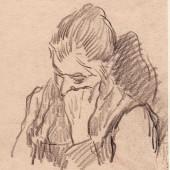 Набросок (бабушка Евгения Николаевна), 1946