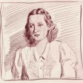 Портрет актрисы МХАТ Антонины Петровны Берестовой, 1940-е