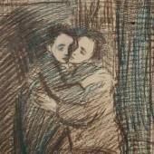 "Рисунок к картине ""Поцелуй"", 1943"