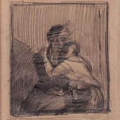 "Рисунок к картине ""Поцелуй"", 1944-1945"