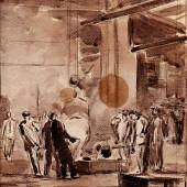 На заводе, 1949