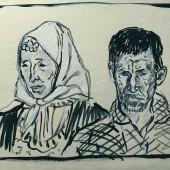 Бикметовы.Шамыкай и Паймалче. В окрестностях г. Грозного, 1941