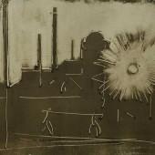 Завод с солнцем (по картине Старые уральские домны), 1962