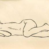 Лежащая девочка, 1958