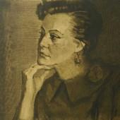 Портрет актрисы МХАТ М.В. Юрьевой, 1959