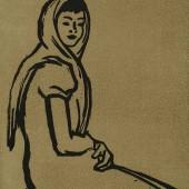 Портрет женщины в платке