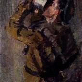 «Воин утоляющий жажду» (из цикла «В дни испытаний») (эскиз). 1943 г. 88х69