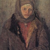 «Девочка в шубке» 1943  г. 60х45