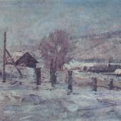 «Зимний этюд» (Башкирия) 1943 г. 22х31,5