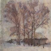 «Зимние тополя» 1942 г. 33х28