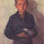 «Мальчик с голубем» 1938 г. 78х58