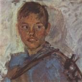 «Мальчик с уздечкой» (этюд) 1943 г. Картон/масло 25х30