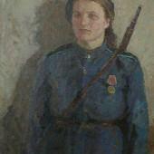 «На посту» 1943 г. 100х80