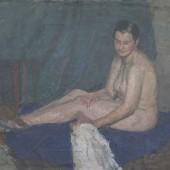 «Обнаженная» 1939 г. Картон/масло 30х40