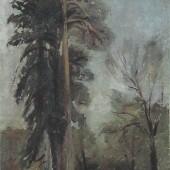 «Сосны» 1934 г. Картон/масло 24х17