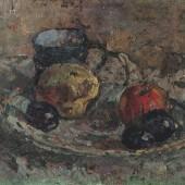 «Тарелка с фруктами» 1950 г. 46х55